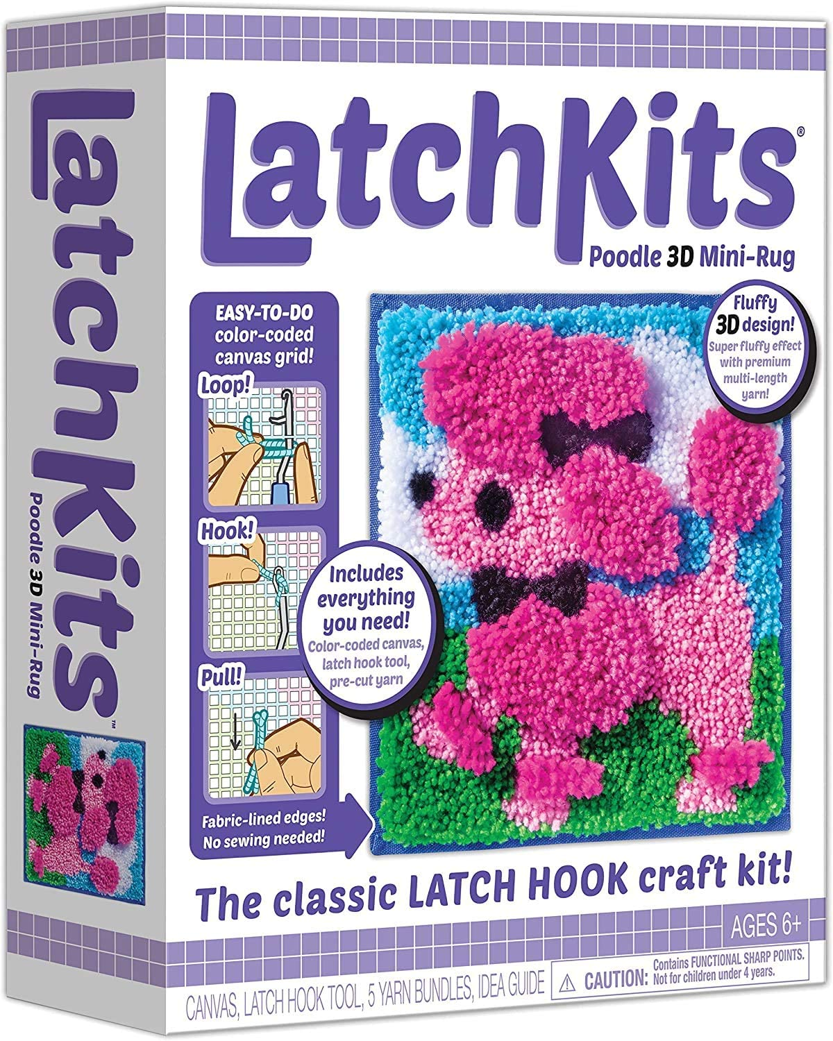 Big Size Latch Rug Kit Christmas Rug Beginner for Home Decoration Rug 43 X 37,A,43 X 37 Latch Hook Kit
