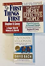 3 Books! 1) First Things First 2) The Habits of Highly Effective People 3) The Automatic Millionaire:A Powerful One-Step Plan To Live and Finish Rich