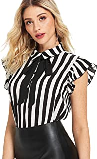 blouse with big bow at neck