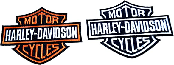 Next Day Delivery Set of 2 Harley Davidson Iron On Patches Sent from u.k Born to be Wild Harley Davidson Motor Cycles .Sold by Deal from Home