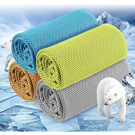 Xingmeng 4枚セット 冷却タオル UVカット アウトドア
