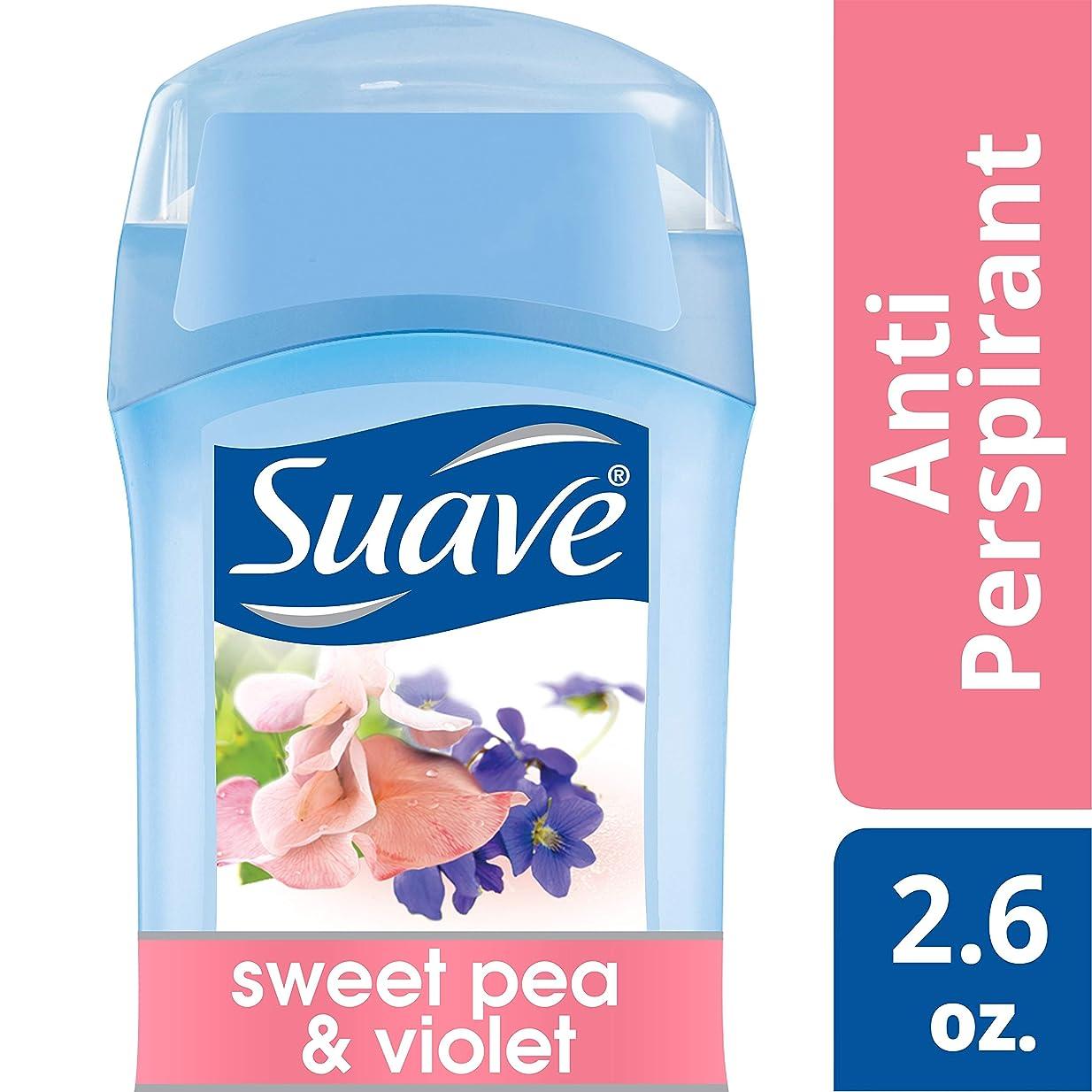 爪発見つなぐSuave Invisible Solid Anti Perspirant & Deodorant Sweet Pea & Violet 75g (並行輸入品)