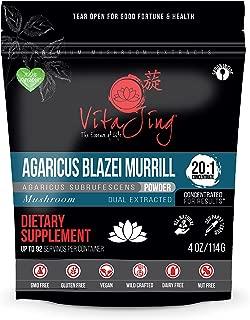 VitaJing Agaricus Blazei Murill Mushroom Extract Powder - Organic - (4oz - 114gr)/20:1 Concentration