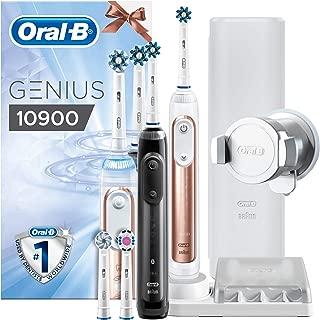 Braun Oral-B Genius 10900Cepillo de dientes eléctrico con encías Protección de asistente, con Bonus mano pieza, Rosegold y negro