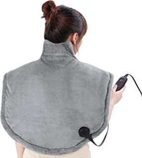 Heating Pad Wrap Neck and Shoulder Heating Pad- Large Heat Pad Electric for Back Adbominal Hand Foot Legs Waist with Fast Heating Function Auto Shut Off and 6 Heating Levels (25 x 26 inch)