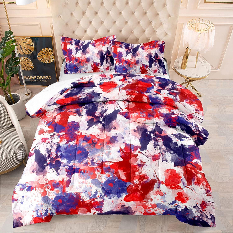 Trippy Super-cheap Graffiti Queen Size Comforter Set Colorful favorite 3 Pcs Watercol
