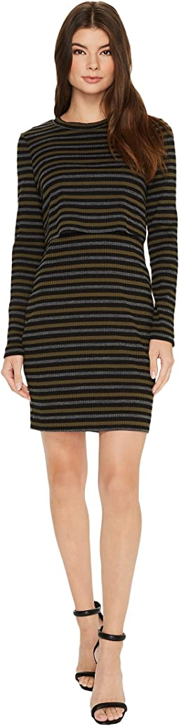 Nicole Miller Twofer Vintage Striped Dress