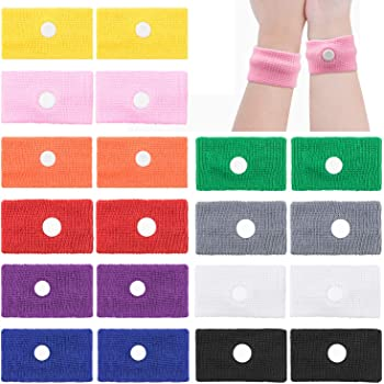 10 Pairs Motion Sickness Wristband, EAONE Morning Sickness Relief for Pregnant Women Sea Sickness Wristbands, Acupressure Wrist Bands Anti Nausea Bracelet for Car, Sea, Flying Travel Sickness