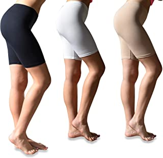 42156339ed15d Sexy Basics Womens 3 Pack Buttery Soft Brushed Active Stretch Yoga Bike  Short Boxer Briefs