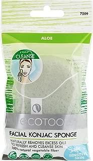 EcoTools Facial Konjac Sponge, Aloe (Pack of 6)