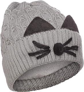 Emmalise Women's Double Pom Pom Beanie Warm Winter Knit Hat Cute Animal Look