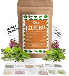 Sponsored Ad - Herb Seeds Vault [12 Variety - 3600 Seeds]- Heirloom Non GMO - Herbs Seeds for Planting for Indoor and Outd...