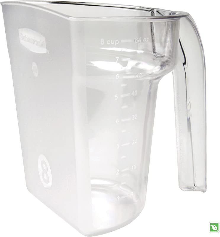 Rubbermaid Commercial FG9G5400CLR Safety Portioning Scoop 8 Cup Capacity Clear