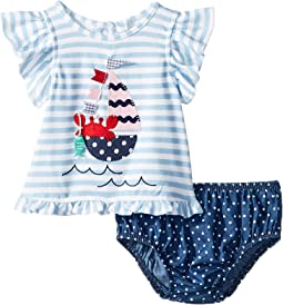 Sailboat Pinafore and Bloomer Two-Piece Set (Infant)