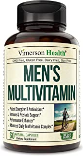 Men's Daily Multimineral Multivitamin Supplement. Vitamins A C E D B1 B2 B3 B5 B6 B12. Magnesium, Biotin, Spirulina, Zinc....