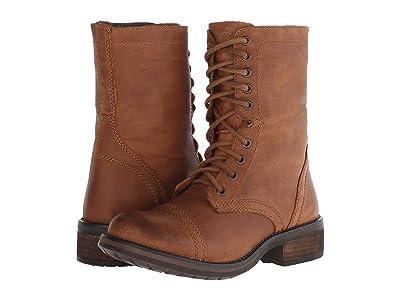 Steve Madden Troopa2.0 Combat Boot (Cognac Leather) Women