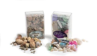 Fossil & Crystal Box Collection - Set of Two Boxes! Great Starter Kit