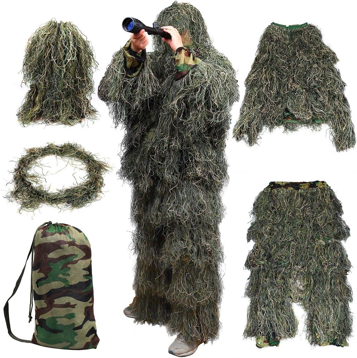 GUGULUZA Housse 3D pour fusil avec sangle /élastique pour camouflage de chasse costume de Ghillie