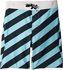 Volcom Kids Stripey Elastic Boardshorts (Little Kids/Big Kids)