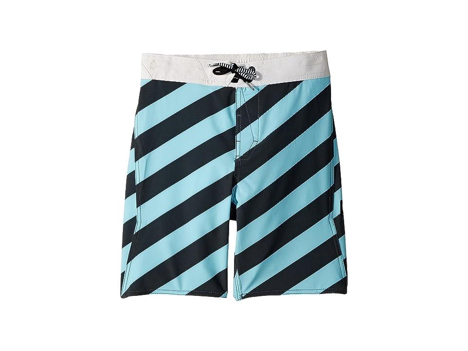 Volcom Kids Stripey Elastic Boardshorts (Little Kids/Big Kids) (Pale Aqua) Boy