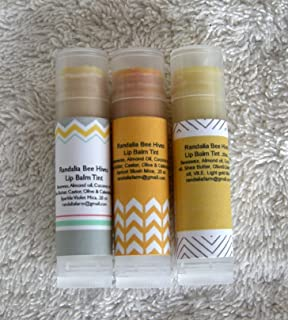 Randalia Bee Hives Lip Balm Tint, Sparkle Violet, Apricot Blush, Light Gold 3/5