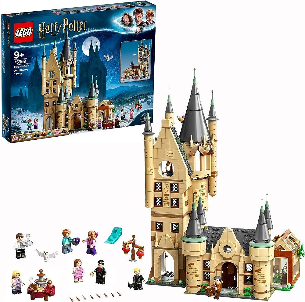 Lego, harry potter, torre di astronomia di hogwarts 75969