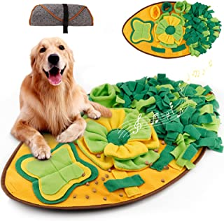 Amzeeniu Snuffeltapijt kat huisdier snuffelmat snuffelmat ruiken training snuffeldeken zoete tapijt Leaf Shape hond puzzel...