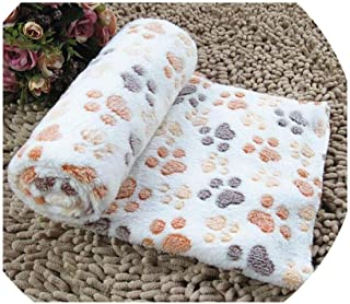 NEVERLAND003 Cute Dog Bed Mats Soft Flannel Fleece Paw Foot Print Warm Pet Blanket Sleeping Beds Cover Mat for Small Medium Dogs Cats