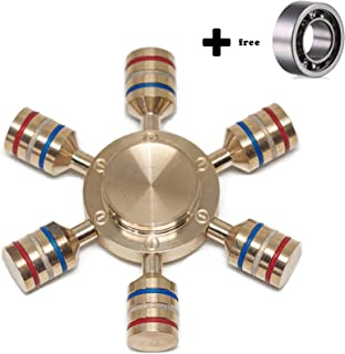 ILoveFidget Fidget Hand Spinner EDC Toy, Customizable spinner, Brass, R188 detachable bearing, 2 - 5 minutes spins, relieves your stress, ADHD, anxiety, improve focus and attention