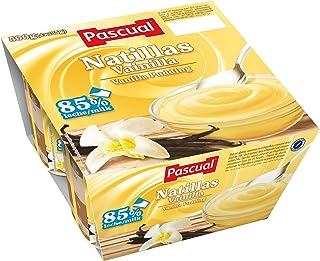 Pascual Natillas Vainilla - Paquete de 4 x 125 gr - Total: 500 gr