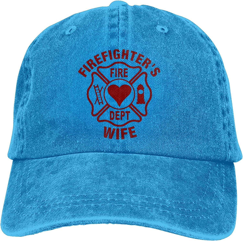 YLW49Y Firefighter's Wife Sports Denim Cap Adjustable Snapback Unisex Plain Baseball Cowboy Hat