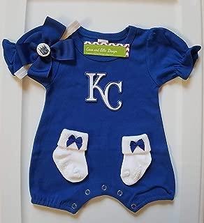 Kansas City Royals baby clothes girl/Kansas City Royals baby gift/KC baseball baby girl/KC Royals baby clothes/Kansas City Royals romper/Royals baby girl/Kansas City Royals newborn