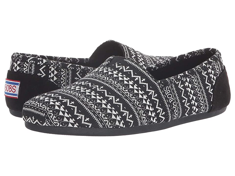 BOBS from SKECHERS Bobs Plush Boho Winter (Black/White) Women