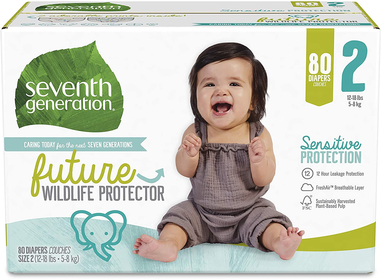 Seventh Superlatite Generation Baby Raleigh Mall Diapers Size 2 Pack Count f Super 80