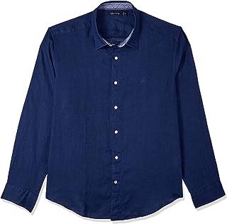Nautica Men's LS Linen Solid Shirts J.