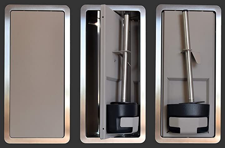 Porta scopino per bagno da incasso a parete serie tino mod. tsv01 (visone) componendo B08C9W8P77