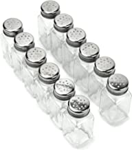 12 Pack of Spice Shakers, Salt & Pepper, Spices, & Seasonings – Stainless Steel Top & Glass Body, Restaurant & Home Kitchen Supplies by Back of House Ltd.