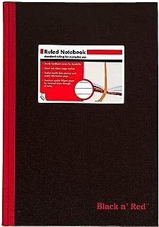 Black n' Red Casebound Hardcover Notebook, 11-3/4