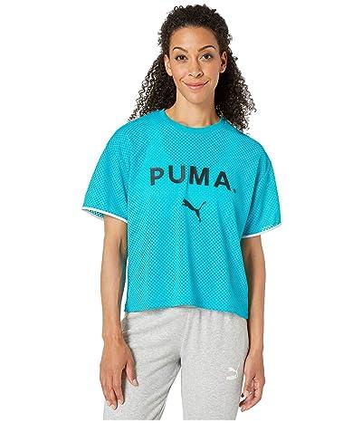 PUMA Chase Mesh Tee (Caribbean Sea) Women