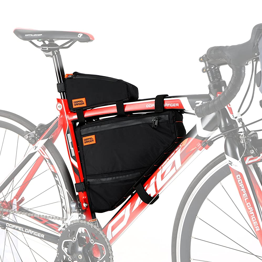 のみティッシュインシデントDOPPELGANGER(ドッペルギャンガー) トリプルストレージフレームバッグ 【トップチューブバッグ+フレームバッグ】 大容量:約4.1L バイクパッキング Packsシリーズ DFB447-DP