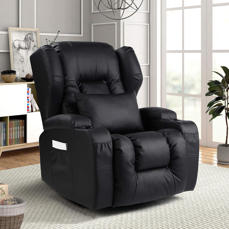 IPKIG Swivel Rocker Recliner Chair- Glider Ergonomic Rocki Chair Courier shipping free shipping Ranking TOP19