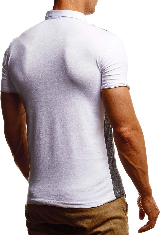 Leif Nelson Herren Sommer T-Shirt Polo Kragen Poloshirt Slim Fit Cooles wei/ßes schwarzes Basic M/änner Polo-Shirts Jungen Kurzarmshirt Kurzarm Sleeve Shirt Top LN55160