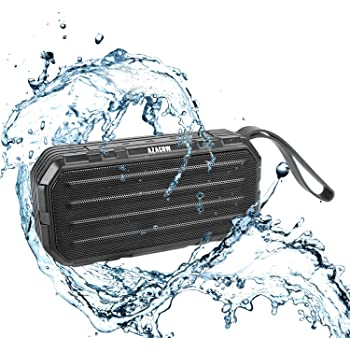 Hard Travel Case for APIE Portable Wireless Outdoor Bluetooth Speaker IPX6 Waterproof Dual 10W Driversf by co2CREA Black
