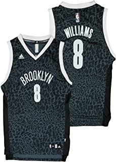 adidas Brooklyn Nets NBA Big Boys Deron Williams # 8 Crazy Light Swingman Jersey - Black