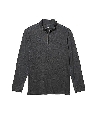 Tommy Bahama Big & Tall Palm Valley IslandZone Half-Zip Sweatshirt (Black Heather) Men