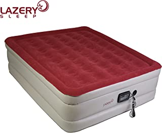 Lazery Sleep Air Mattress – Raised Electric Airbed with Built in Pump & Carry..