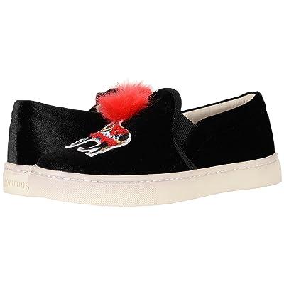 Soludos Velvet Show Pony Sneaker (Black) Women