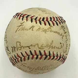 Beautiful 1943 Cincinnati Reds Team Signed Baseball Bill McKechnie JSA COA
