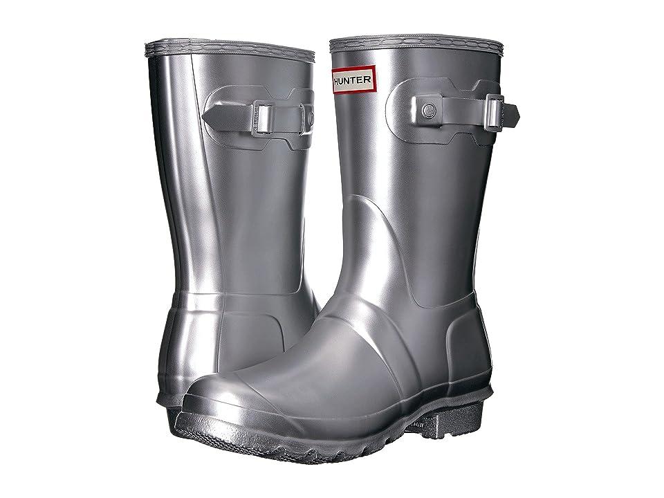 Hunter Original Short Rain Boots (Silver) Women