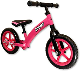 Zoomy Leisure Kids Aluminium Balance Bike. Super Light Weight. Suitable for Children from 18 Months to 5 Years - Pink